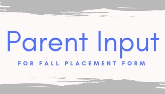 East Parent Input Forms