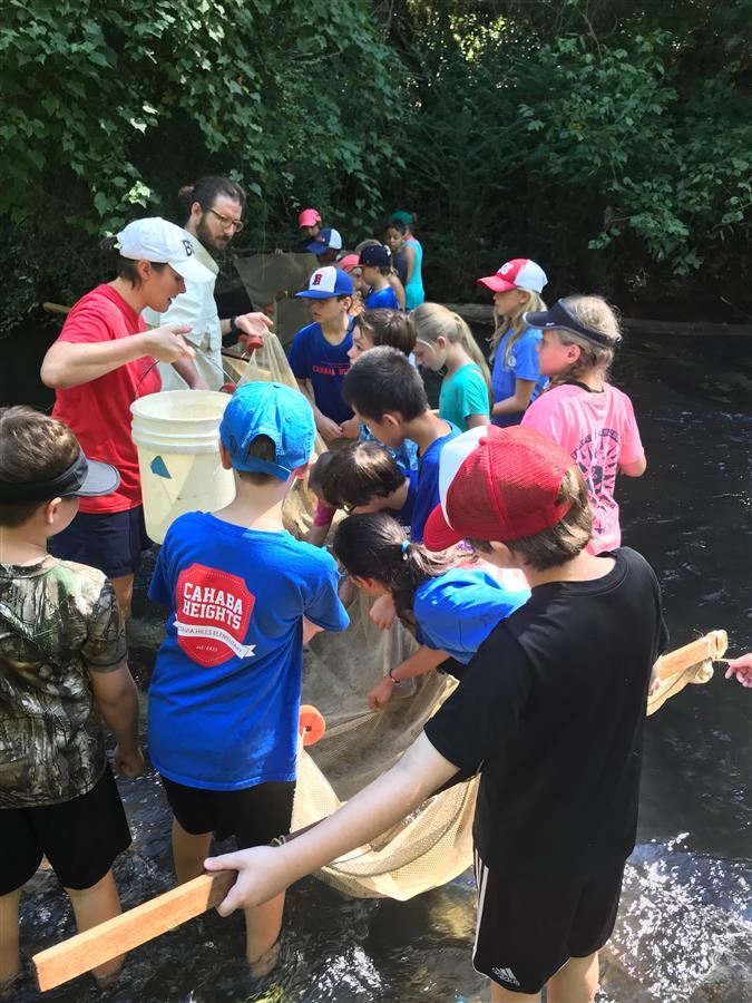 VHECH students at Cahaba River
